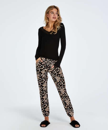Conjunto de pijama Daisy, Negro