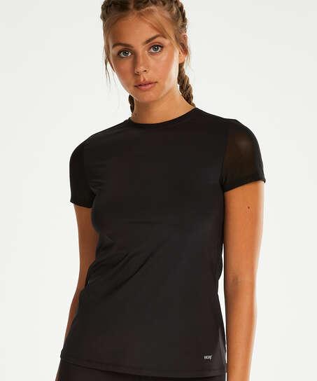 Camiseta deportiva de espalda descubierta de HKMX, Negro