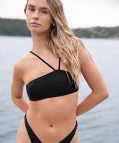 Top de bikini bandeau HKM x NA-KD, Negro