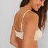 Bikini croptop con textura HKM x NA-KD, Blanco