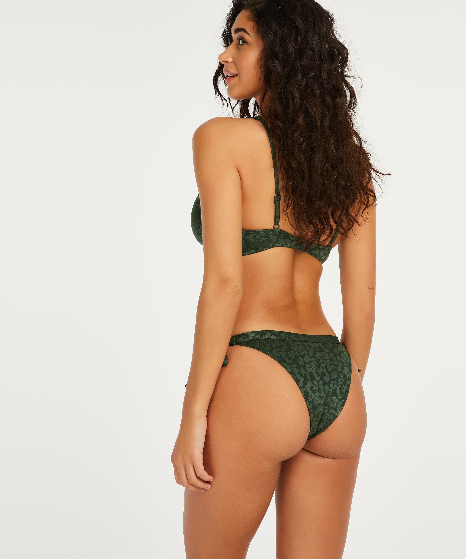 Top de bikini de aros no preformado Tonal, Verde, main