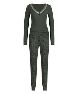 Conjunto de pijama Leopard, Verde