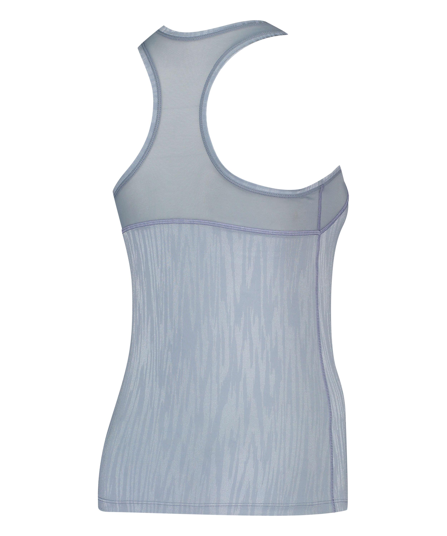 HKMX camiseta de deporte sin mangas, Azul, main