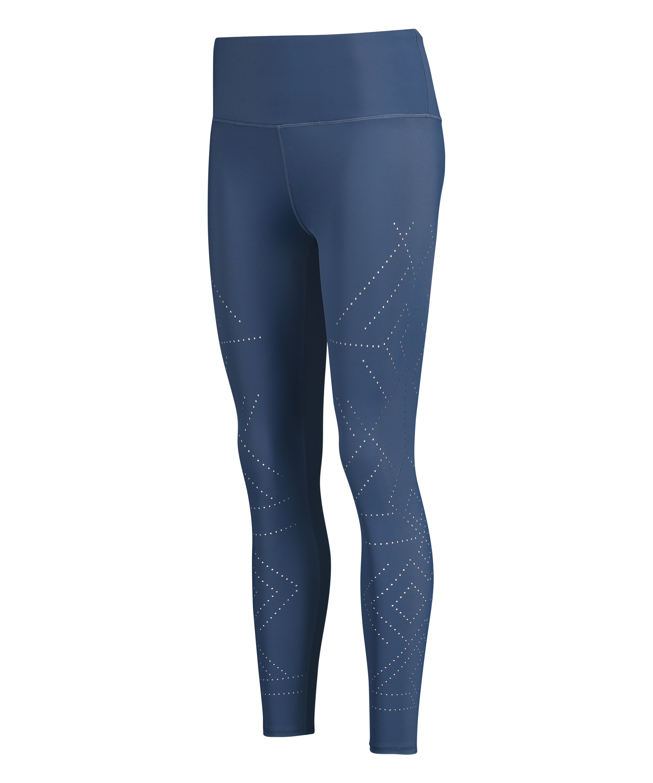 HKMX Legging deportivo de tiro alto Naira, Azul, main