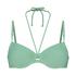 Top de bikini con aros preformado Sienna, Verde