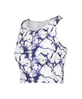 HKMX Camiseta sin mangas Sport Marble, Blanco
