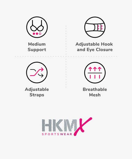 HKMX Sujetador deportivo The All Star Level 2, Blanco
