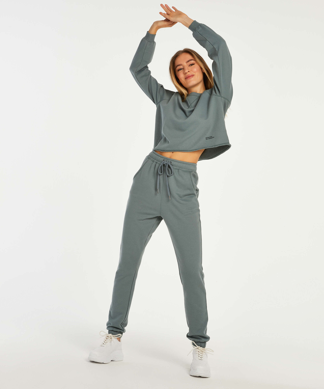 Pantalón para correr Sweat French, Verde, main