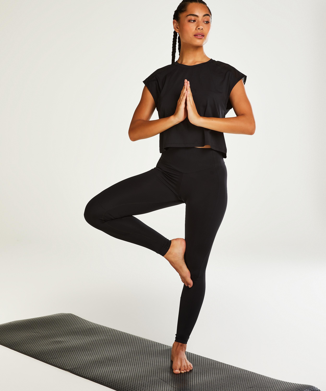 HKMX Mallas de cintura alta Make Me Zen , Negro, main