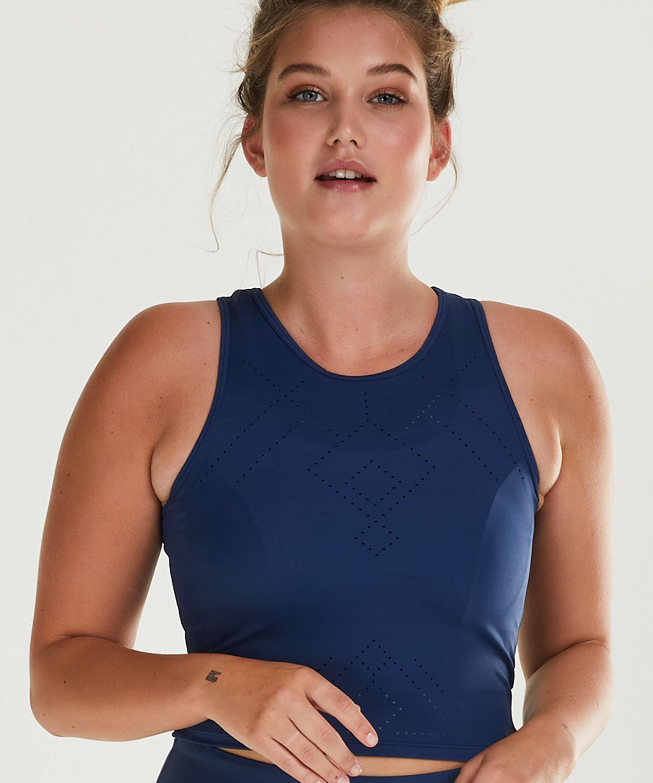 HKMX Camiseta de deporte sin mangas Naira, Azul, main
