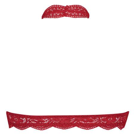 Sujetador bralette Halter Lace, Rojo