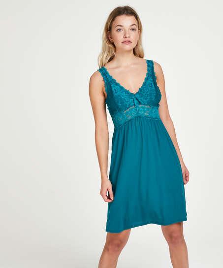Vestido combinación Modal Lace, Verde