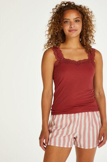 Hunkemöller Pantalón corto de pijama Chambray a rayas Rosa