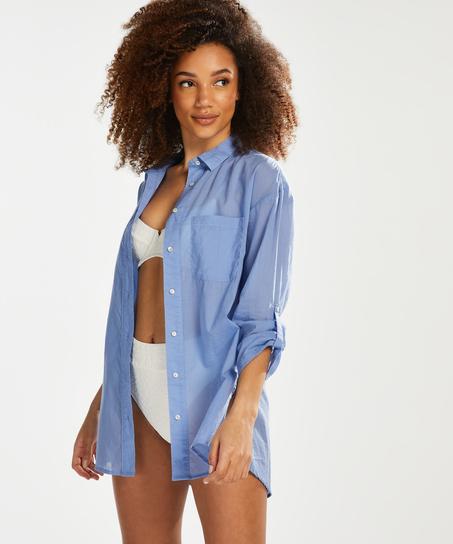 Blusa de playa, Azul