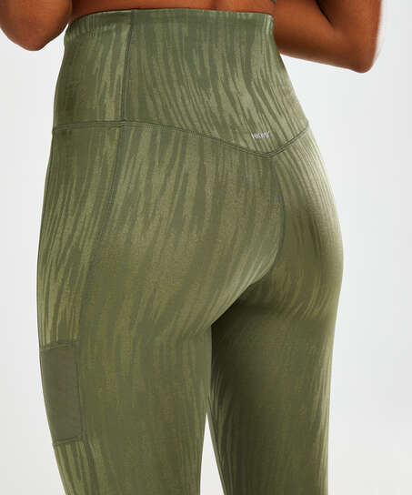 Leggings deportivos de cintura alta HKMX Mojave, Verde