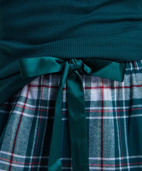Pantalón de pijama Twill Check, Azul