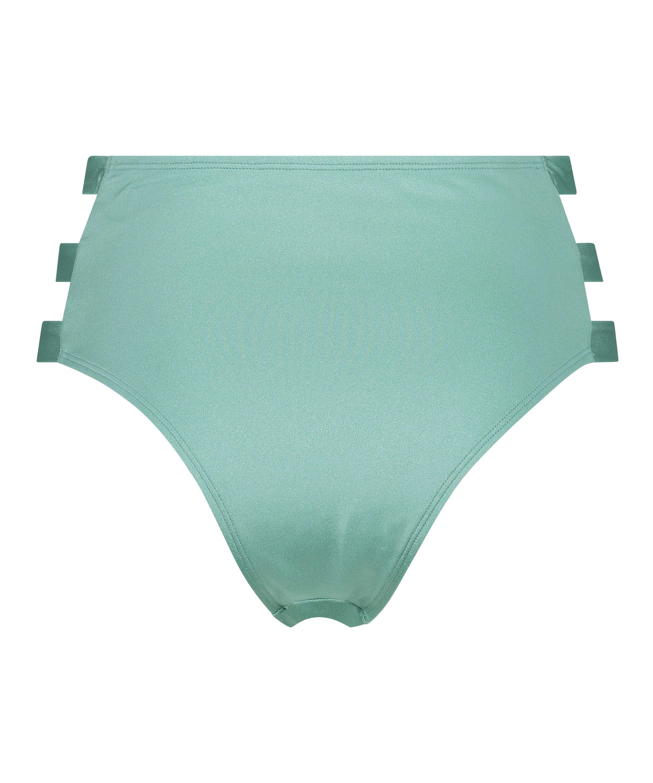 Braguita de bikini atrevida de corte alto SoCal, Verde, main