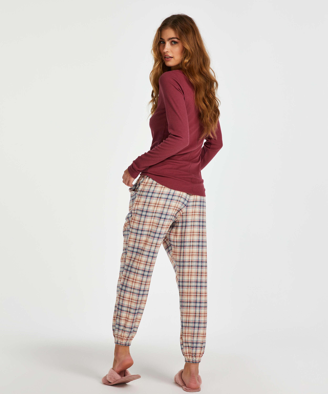Top de pijama de manga larga, Rojo, main