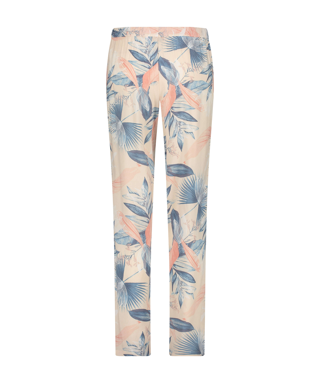 Pantalón de pijama tejido, Beige, main