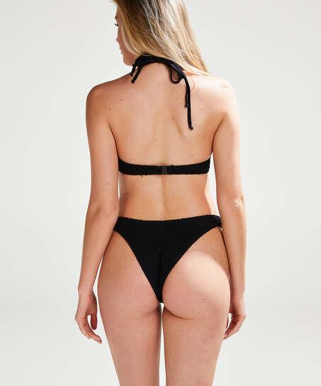Bikini push-up Top Crochet, Negro