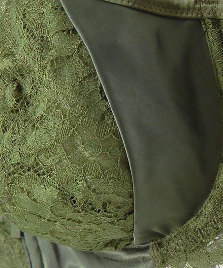 Sujetador de aros no preformado Hannako, Verde