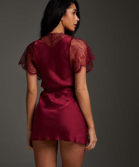 Kimono Cap Sleeve, Rojo