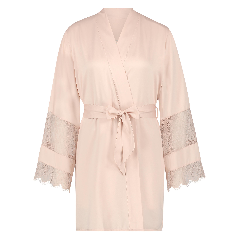 Kimono de satén Bridal, Rosa, main