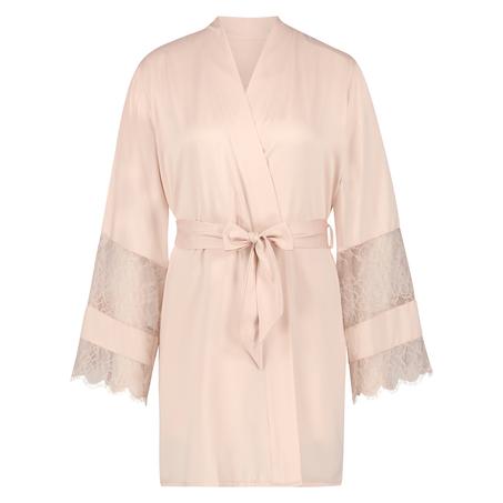 Kimono de satén Bridal, Rosa