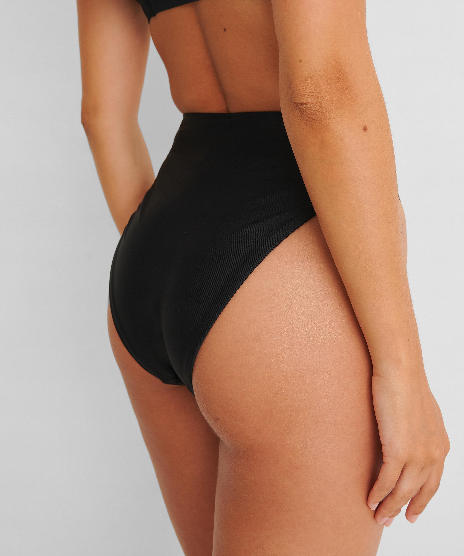Braguita de bikini de tiro alto Black HKM x NA-KD, Negro, main