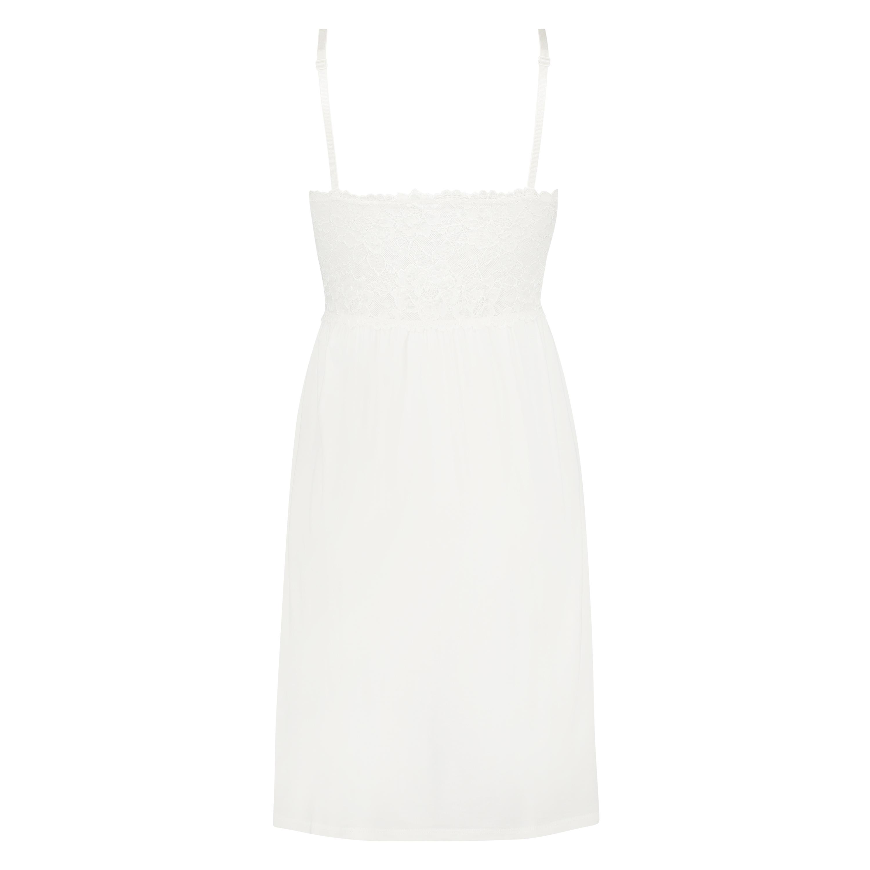 Vestido lencero Nora Lace, Blanco, main