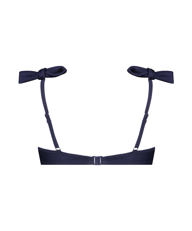 Top de bikini con aros preformado Harper, Azul, main