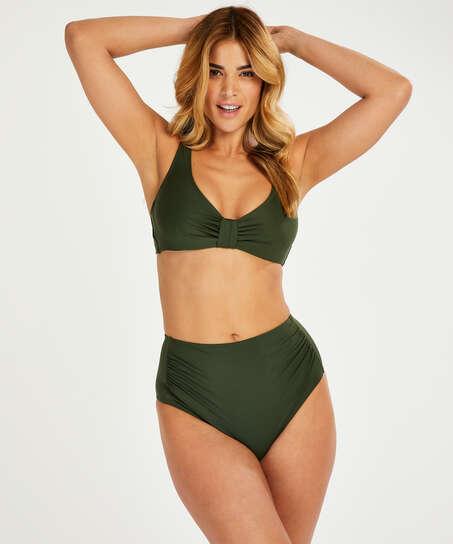 Braguita de bikini de corte alto Luxe, Verde