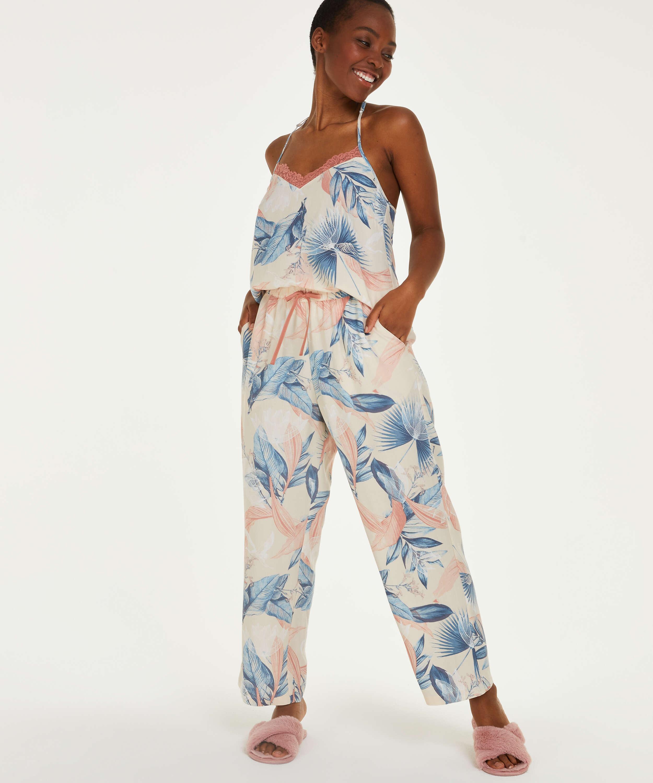 Petite Pantalón de pijama tejido, Beige, main