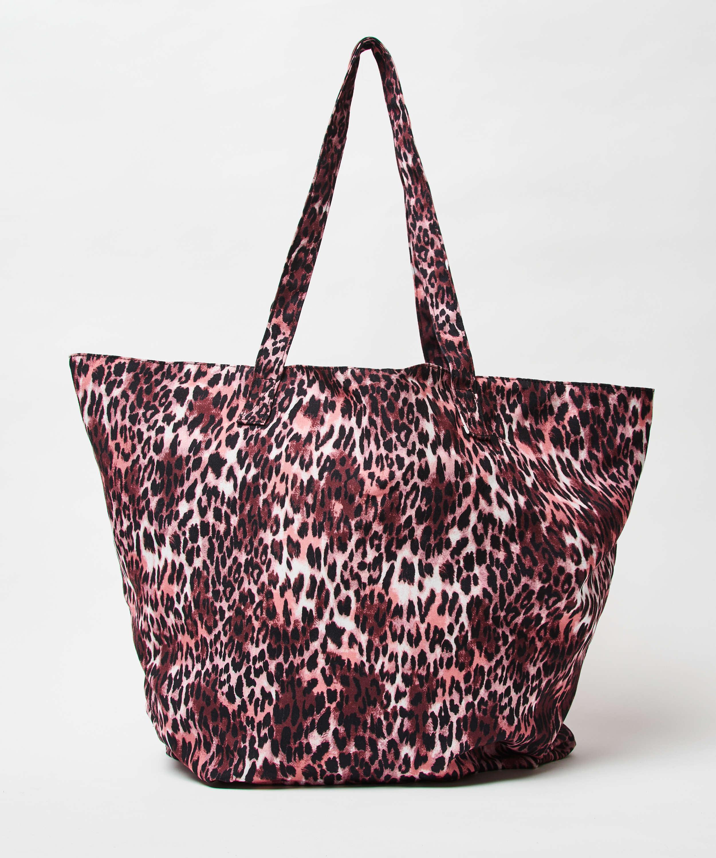 Bolsa de playa Leopardo, marrón, main