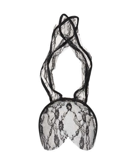 Private máscara de Conejito de encaje, Negro