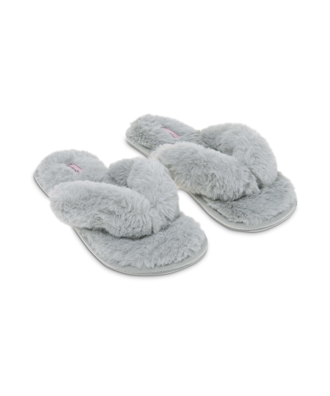 Zapatillas Fake Fur, Gris, main