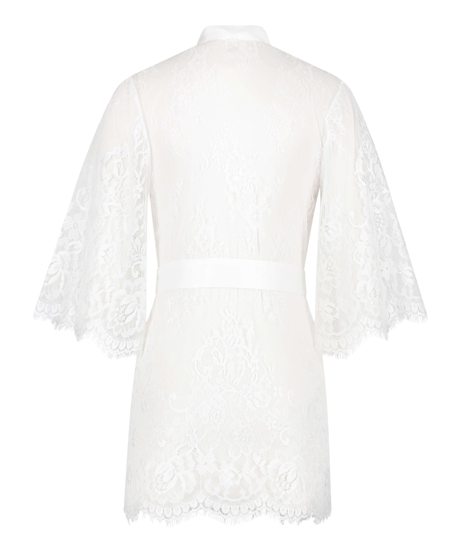 Kimono de encaje Isabelle, Blanco, main