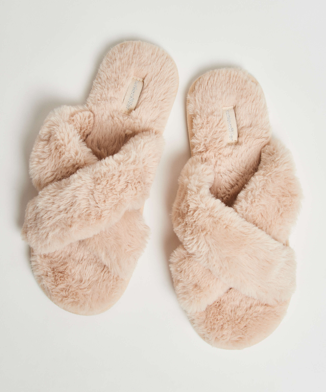 Zapatillas Fake Fur, Beige, main