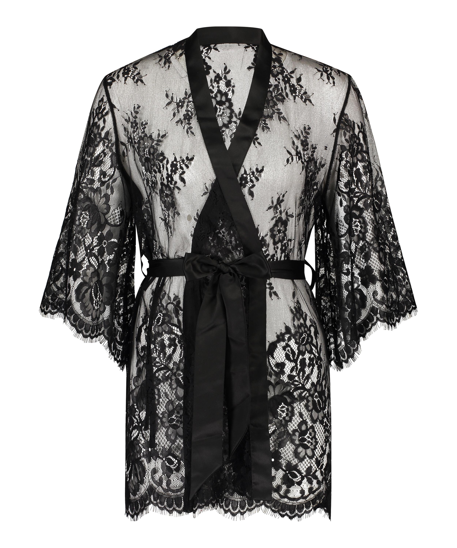 Kimono de encaje Isabelle, Negro, main