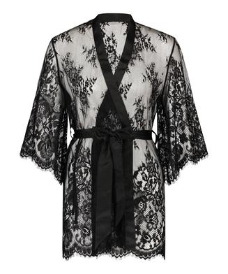 Kimono de encaje Isabelle, Negro