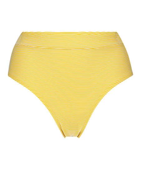 Braguita de bikini atrevida de corte alto Carmel, Amarillo