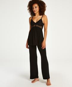 Conjunto de pijama Vera Lace, Negro