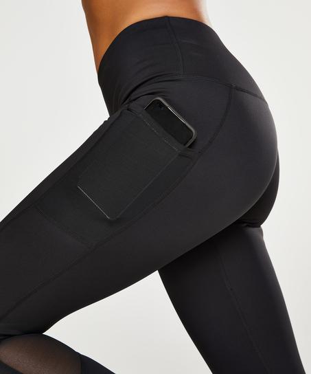 HKMX Mallas de cintura alta Oh My Squat , Negro