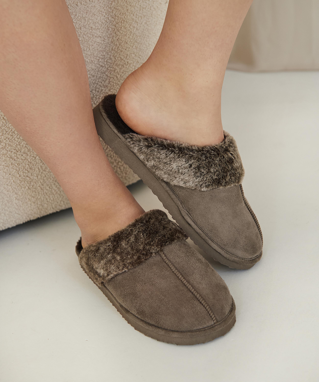 Zapatillas de tejido Suede, marrón, main