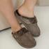 Zapatillas de tejido Suede, marrón