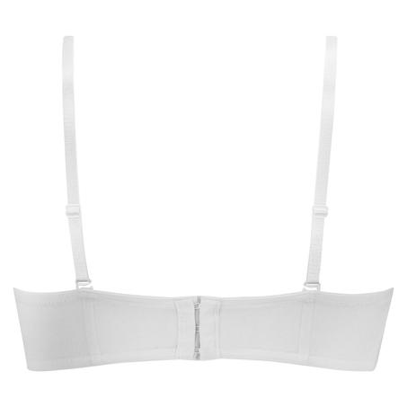 Sujetador de aros preformado sin tirantes Maya, Blanco