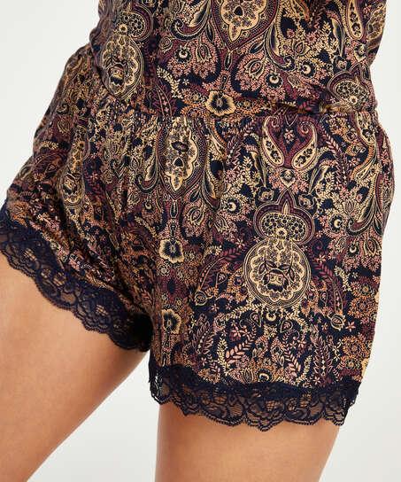 Conjunto de pijama corto Multi Paisley, Azul