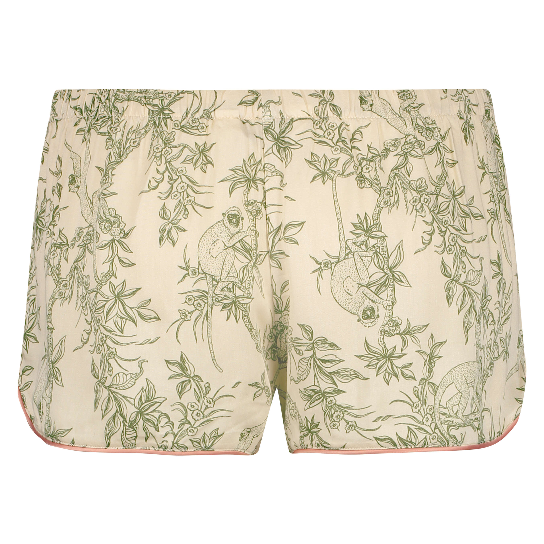 Pantalón de pijama corto tejido, Beige, main