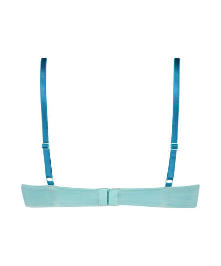 Sujetador de aros preformado Plunge, Azul