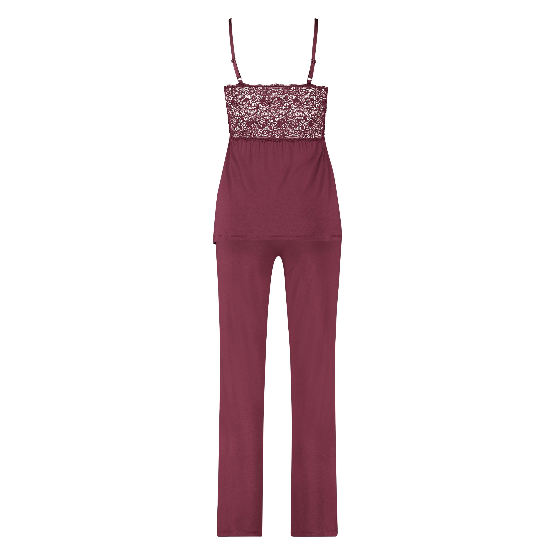 Conjunto de pijama Vera Lace, Rojo, main